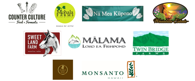 Participating Farms Banner of Logos
